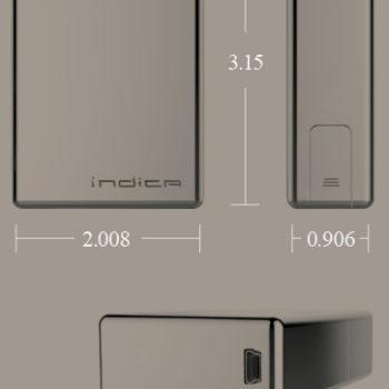 Indica Vaporizer Size
