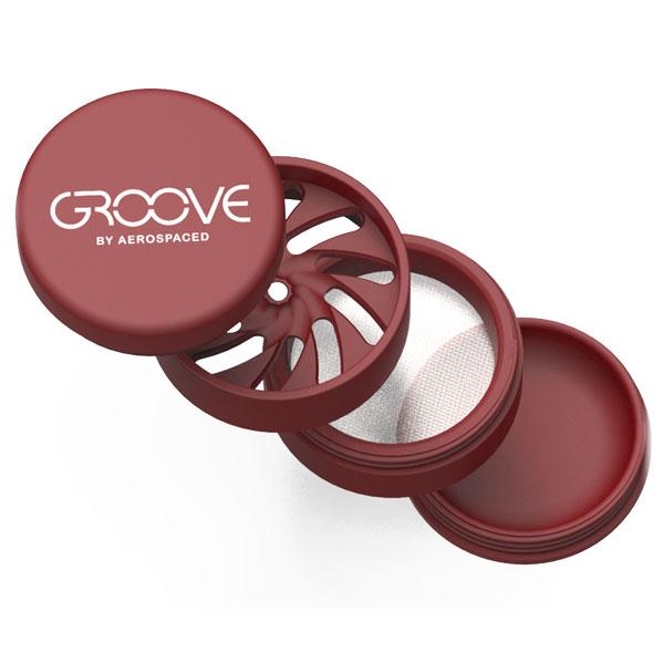 Aerpspaced Groove 50mm Red Grinder Detail