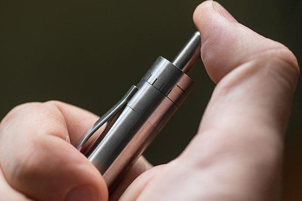 Grasshopper Vaporizer Titanium Temperature Control Dial